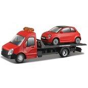 Street Fire Transport W Fiat 500 RED 1:43 BBURAGO