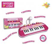 Bontempi Girl Keyboard 24 key z mikrofonem 33057 DANTE