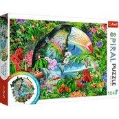 Puzzle 1040 Spiral Tropikalne zwierzęta TREFL