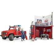 Remiza strażacka + Land Rover Defender + akcesoria