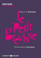 Petit grevisse Grammaire francaise