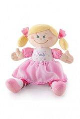 Lalka z różową sukienką