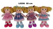 Lalka szmacianka 50cm 4 wzory mix 156365 Cena za 1szt