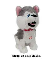 Maskotka Pies husky z głosem 34cm 149398