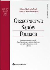 Orzecznictwo Sądów Polskich 5/2021