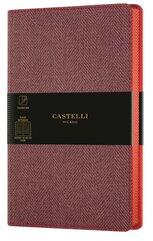 Notatnik 13x21cm linia Castelli Harris Red