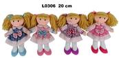 Lalka szmacianka 20cm 4 wzory mix 156464 cena za 1 sztukę