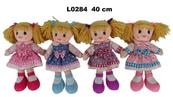 Lalka szmacianka 40cm 4 wzory mix 156242