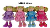 Lalka szmacianka 40cm 4 wzory mix 156266