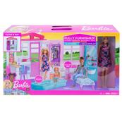 Barbie Przytulny domek z wyposażeniem + lalka p2 FXG55 MATTEL