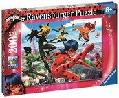 Puzzle 200 Miraculum. Biedronka i Czarny Kot XXL