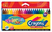 Kredki świecowe 24 kol. Colorino Kids