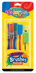 Pędzelki kreatywne 6 szt. blister Colorino Kids 39031