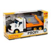 """Polesie 86266 """"Profi' samochód z napędem, pomarańczowy do przewozu kontenerów, światło, dźwięk w pudełku"""