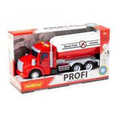 """Polesie 86464 """"Profi' samochód cysterna z napędem, czerwony, światło, dźwięk w pudełku"""