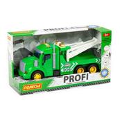 """Polesie 86594 """"Profi' samochód ewakuator z napędem, zielony, światło, dźwięk w pudełku"""