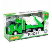 """Polesie 86259 """"Profi' samochód z napędem, zielony do przewozu kontenerów, światło, dźwięk w pudełku"""