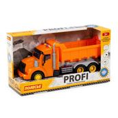 """Polesie 86297 """"Profi' samochód-wywrotka z napędem, pomarańczowy, światło, dźwięk w pudełku"""