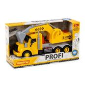 """Polesie 86440 """"Profi' samochód-koparka z napędem, żółty, światło, dźwięk w pudełku"""