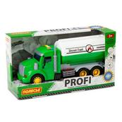 """Polesie 86471 """"Profi' samochód cysterna z napędem, zielony, światło, dźwięk w pudełku"""