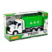 """Polesie 86495 """"Profi' samochód komunalny z napędem, zielony, światło, dźwięk w pudełku"""