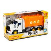 """Polesie 86501 """"Profi' samochód komunalny z napędem, pomarańczowy, światło, dźwięk w pudełku"""