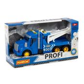 """Polesie 86570 """"Profi' samochód ewakuator z napędem, niebieski, światło, dźwięk w pudełku"""