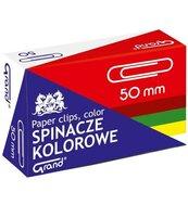 Spinacz kolor 50mm 50szt GRAND
