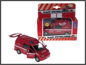 Auto Van Straż pożarna z dźwiękiam 14cm pudełko