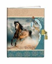 Pamiętnik z kłódką 13x18cm Indiański Koń