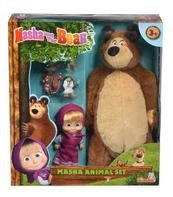 Masza i Niedźwiedź Zestaw ze zwierzętami Simba