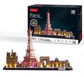Puzzle 3D City Line LED Paryż L525H