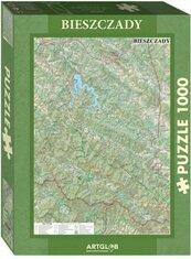Puzzle 1000 - Bieszczady mapa turystyczna