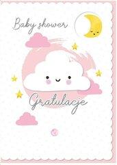 Karnet B6 DK-836 Baby shower (różowy)