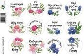 Zestaw naklejek - kwiaty