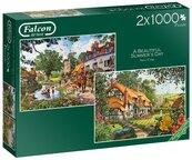 Puzzle 2x1000 Falcon Piękny letni dzień G3