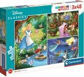 Puzzle 3x48 Super Kolor Disney Classic