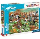 Puzzle 104 Maxi Super Kolor Mickey & Friends