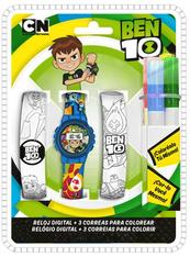 Zestaw zegarek cyfrowy z paskami do kolorowania i markerami Ben 10 BT17009 Kids Euroswan