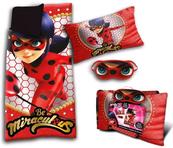 Zestaw: śpiwór 70x140cm + poduszka 40x25cm + maska Ladybug LB17147 Kids Euroswan