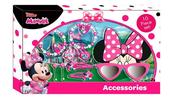 Zestaw biżuterii i akcesoriów do włosów, okulary przeciwsłoneczne, 10el. Myszka Minnie WD19823 Kids Euroswan