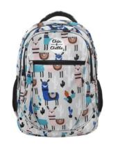 Plecak szkolny Kolorowe lamy szary