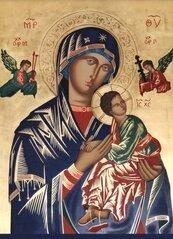 Obraz z modlitwą do Matki Bożej Nieustającej...