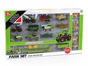 Zestaw maszyn rolniczych+zwierzęta w pudełku 507265