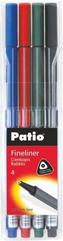Cienkopis Trio Fineliner 4 kolory Patio
