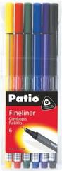 Cienkopis Trio Fineliner 6 kolorów Patio