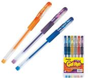 Długopisy żelowe brokatowe Glitter Gel Pen 6 kolorów 88852PTR Patio