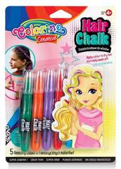 Zestaw pasteli kredowych do włosów 5 szt blister Colorino Kids 68659