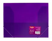 Teczka na gumkę A4 transparentna fioletowa PAT4003S/N/12 Patio