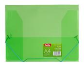 Teczka na gumkę A4 transparentna zielona PAT4003S/N/15 Patio
